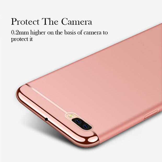 Soaptree Phone Case Cover For OPPO R11 Plus Cases For OPPO R11 Plus Covers Plating Hard PC Fundas Shell Housing Hood Back Bags
