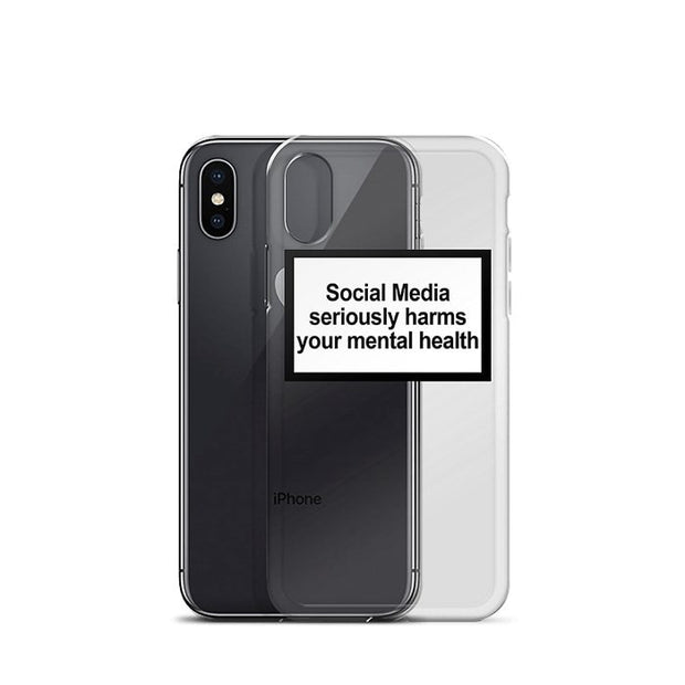 Social Media Seriously Harms Your Mental Health Soft Phone Cases For Iphone 6 6S 7 8 Plus X XS MAX XR 5 5s SE Back Cover Coque