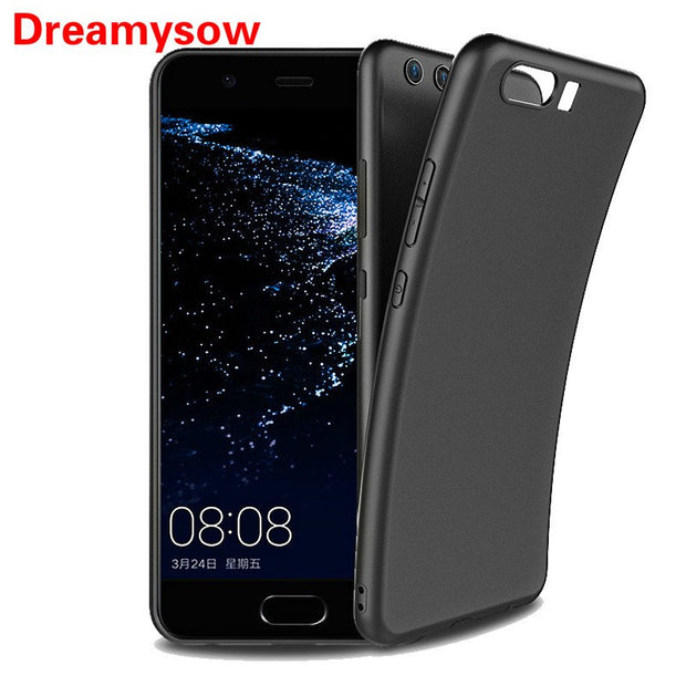 Soft Matte TPU Black Phone Case Cover For Huawei P20 Pro P10 P8 P9 Lite 2017 Y9 2018 Nova 3 3i P Smart Plus Honor 8 Lite Play 10