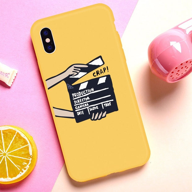 Soft Silicone Phone Case For IPhone 7 Cute Shockproof Phone Back Cover Case For IPhone 8 Full Protection Case For IPhone 6