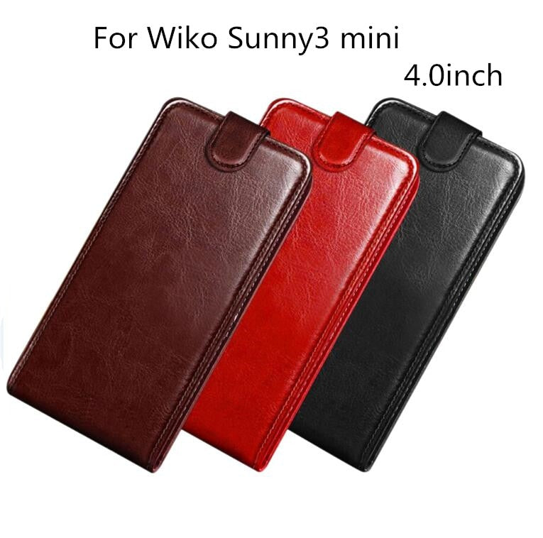 Soft Silicone Wallet Coque For Wiko Sunny 3 Mini 4 0'' Filp Stand PU  Leather With Card Holder Phone Bag Cases