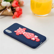 Soft TPU Case For IPhone 6 6S 7 8 Plus X Cover Coque For IPhone 6 Phone Bag Shell Cat Cartoon Patterned Funda