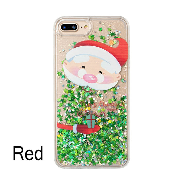 Soft TPU Cases For IPhone 6S Plus Christmas Quicksand Phone Case For IPhone 7 Plus Cases For IPhone 6 6S Plus For IPhone 8 Plus