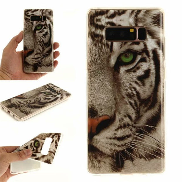 Soft TPU+IMD Cover For Coque Samsung Galaxy Note 8 Case Back Cover Sex Girl Lion Tiger Owl Fundas For Samsung Note 8