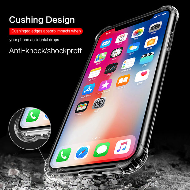 Soft Tpu Case For IPhone 7 7 Plus 8 6s Shockproff Phone Case For IPhone 6 6 Plus 8 X 10 Anti-knock Cover For IPhone 8 Plus 6s 7