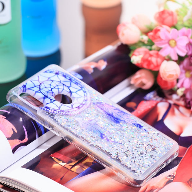 Sparkly Liquid Bling Dynamic Quicksand Soft Silicone Case Cover For Xiaomi Redmi Note 5 Patterned Soft Capa For Redmi Note 5 Pro