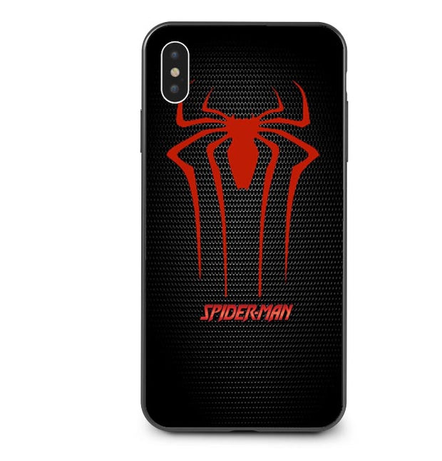 Spider Iron Man Joker Deadpool Captain America Back Cover Silicone Phone Case For IPhone X XS MAX XR 5 5s SE 6 6SPlus 7 8 Plus X