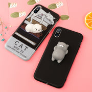 Squishy Mobile Phone Cases For IPhone 6 6S 7 8 Plus X Case Kitty Panda Cat Lovely Soft Back Cover For IPhone 6 6S Plus Case