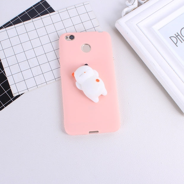Squishy Phone Case For Xiaomi Mi A1 5X Redmi 4X Case Finger Pinch 3D Soft Silicone Cases For Xiaomi Mi Max 2 Redmi Note 4X 4A