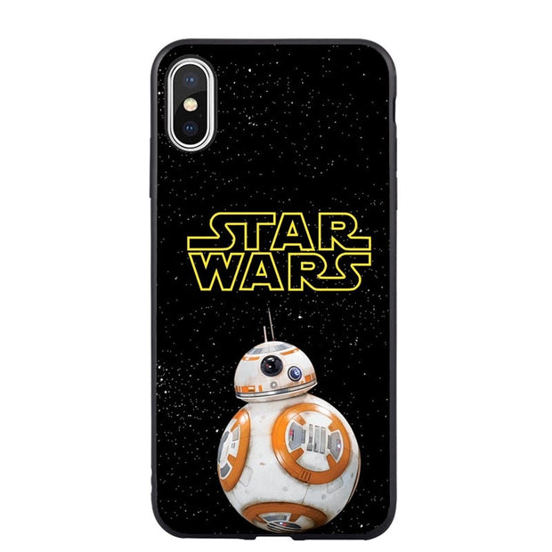 Star Wars BB8 Stormtrooper Darth Vader Soft Silicone Phone Case Shell Cover For IPhone 5 5s SE 6 6sPlus 7 8 Plus X XR XS MAX