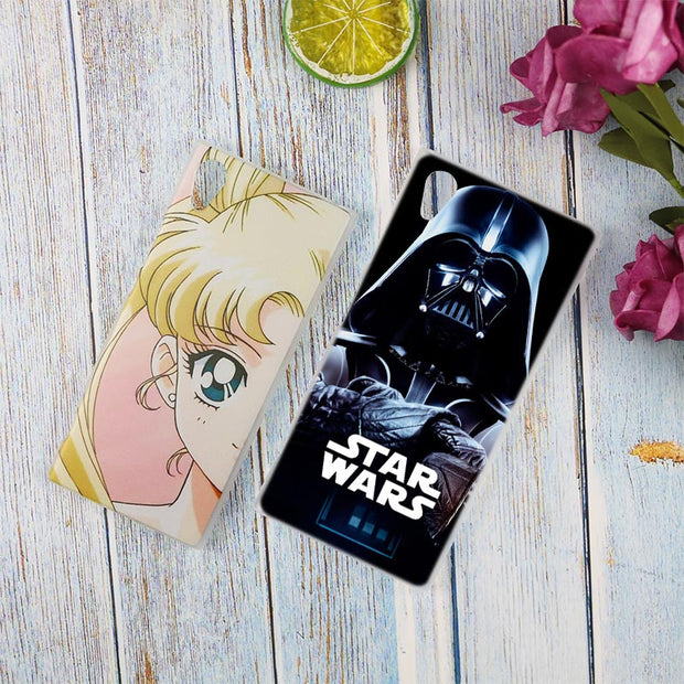 Star Wars The Force Awakens Clear Cover Case For Sony Xperia Z3 Z5 Premium M4 Aqua M5 X XA XA1 C4 C5 E4 E5 XZ XZ2 Compact Plus