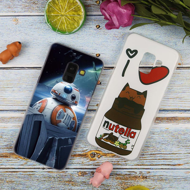 Star Wars R2D2 Hot Fashion Transparent Case For Samsung Galaxy A3 A5 A9 A7 A6 A8 Plus 2018 2017 2016 Star A6S Note 9 8 Cover