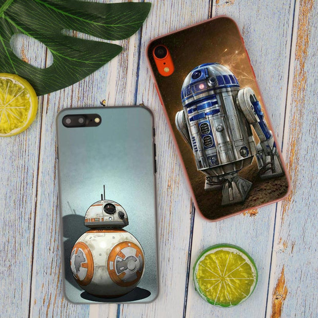 Star Wars R2D2 Hot Fashion Transparent Hard Phone Cover Case For IPhone X XS Max XR 8 7 6 6s Plus 5 SE 5C 4 4S