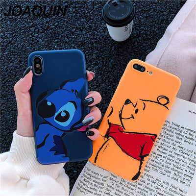 Stitch Coque For IPhone Xs 7 6 6s Plus Case TPU Cover Fundas For IPhone 8 6 Plus X XR XS MAX Lovely Winnie Pooh Cartoon Case