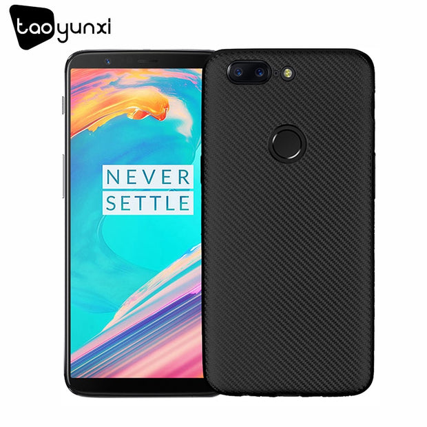 TAOYUNXI Cases For OnePlus 5T Case Silicone For One Plus 5t Cases OP5T Carbon Fiber Covers Housings Shell Coque Fundas Hood Capa