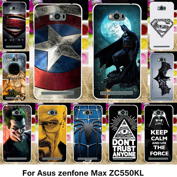 the best attitude 6ef19 4bc96 TAOYUNXI Covers Cases For ASUS Zenfone MAX Z010DD Z010D ZC550KL Z010DA 5.5  Inch Cases Superman Batman TPU Plastic Cover Bags