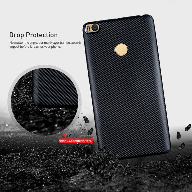 TAOYUNXI Mobile Phone Case Cover For Xiaomi Mi Max 2 Xiaomi Mi Max2 6.44 Inch Case Soft TPU Back Bag Housing Carbon Fiber Cover