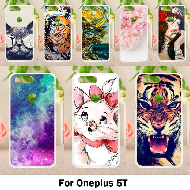 TAOYUNXI Soft Cases For OnePlus 5T One Plus 5t Case Antil-knock Cover Skin For OnePlus 5T 6.01 Inch Silicone Housings