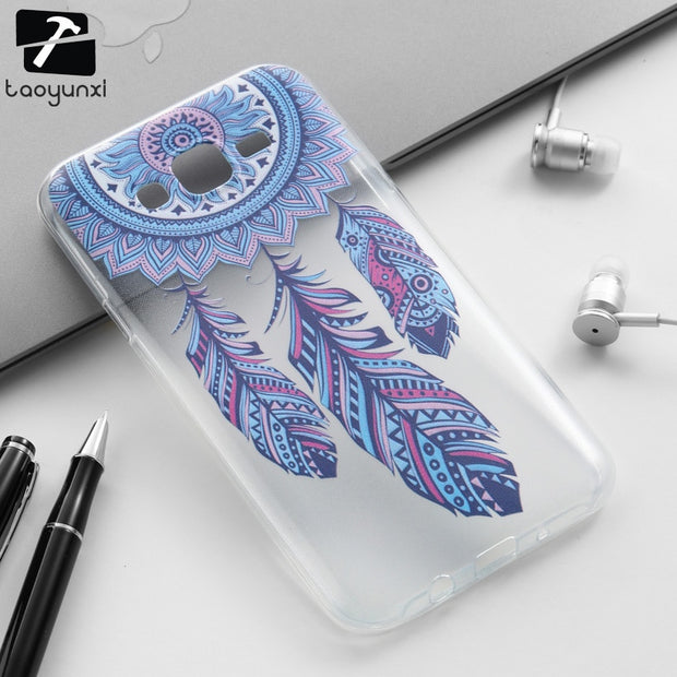 TAOYUNXI Soft TPU Phone Cover Case For Samsung Galaxy J7 2015 J700F DS J700H J700M J700T J700P SM-J700F J700 J7008 Covers Cases