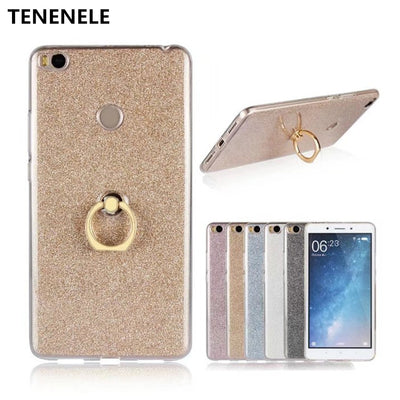 TENENELE Phone Case 6.44''Coque For Xiaomi Mi Max 2 Luxury Case Funda Silicone With Stand Ring Cover For Xiaomi Mi Max2
