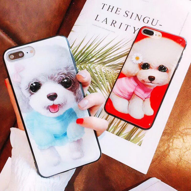 TPFIX IMD Phone Case For OPPO R17 Pro Cover Cases For OPPO A83 A79 R15 R11S R11 Plus A3 F1S F3 Plus A59 Poodle Pet Dog PC Hard