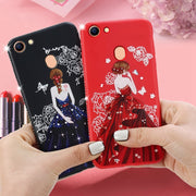 TPU Case For OPPO A73 Carcasa Rhinestone Pretty Girl Emboss Pattern Cover For OPPO A73 F5 Soft Silicone Funda Coque