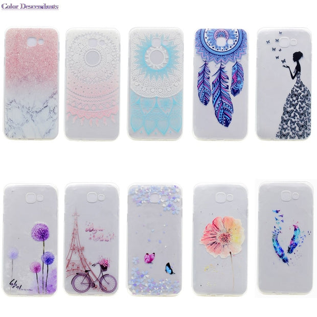 TPU Soft Silicone Case For Samsung Galaxy J3 Express Prime SM-J327A Painting Phone Cases For Samsung J3 Prime 2017 Phone Covers