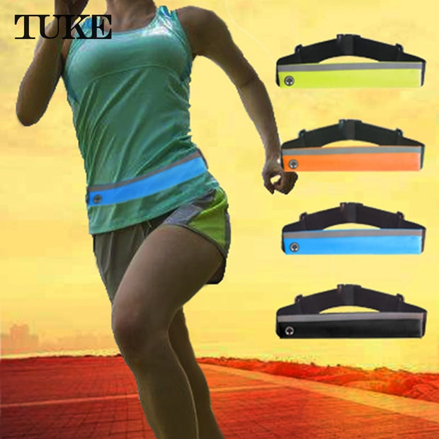 TUKE 5.5'' Universal Waterproof Running Phone Belt Bag Pouch For IPhone 8 8 Plus 7 6s Plus 5 5s SE Sport Waist Running Cases