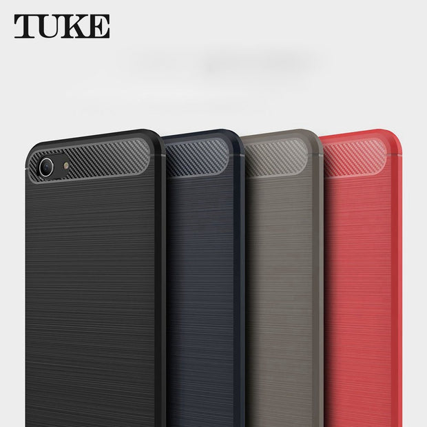 TUKE For BBK Vivo Y83 Case Ultra Thin Carbon Fiber Case Soft TPU Cover For Vivo Y 83 Phone Cover Case
