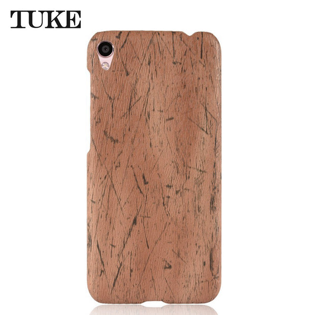 TUKE Phone Case For Asus Zenfone Live ZB501KL Funda Leather Wood Grain Plastic Back Cover For Asus ZB 501KL Coque Carcasa