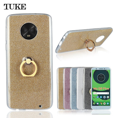 TUKE Silicone Case For Moto G 6 Plus Case Bling Phone Cover For Motorola Moto G6 Plus Fundas 5.93 Fashion Cases Soft Shell