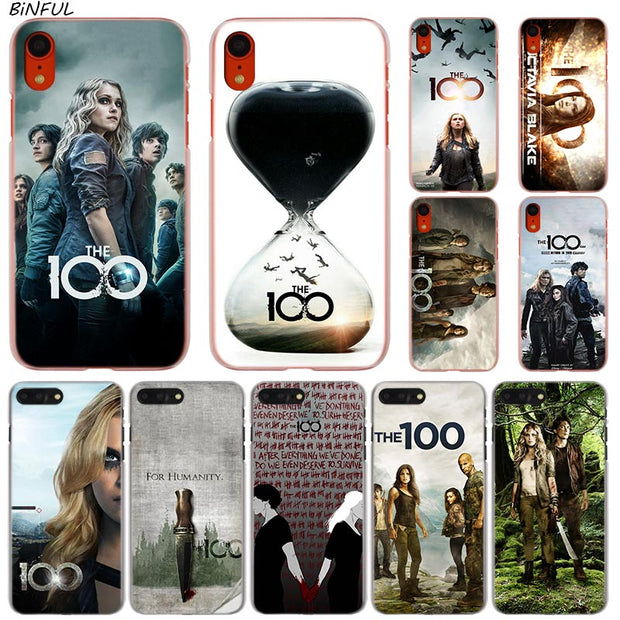 TV Show The 100 Hot Fashion Transparent Hard Phone Cover Case For IPhone X  XS Max XR 8 7 6 6s Plus 5 SE 5C 4 4S