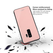 Tempered Glass Case For Samsung S7 S7edge S8 S9Plus Luxury Hybrid Shockproof Back Cover For Galaxy Note 8 9 Soft TPU Case Fundas