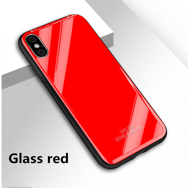 Tempered Glass Phone Case For IPhone 7 8 Cases 0.7MM Glass Cover For IPhone X XS Max XR 5 SE 6 6s Plus Shell Funda Accessories
