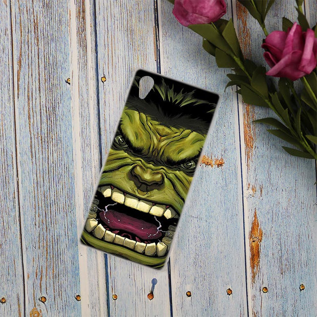 The Incredible Hulk Clear Cover Case For Sony Xperia Z3 Z5 Premium M4 Aqua M5 X XA XA1 C4 C5 E4 E5 XZ XZ2 Compact Plus