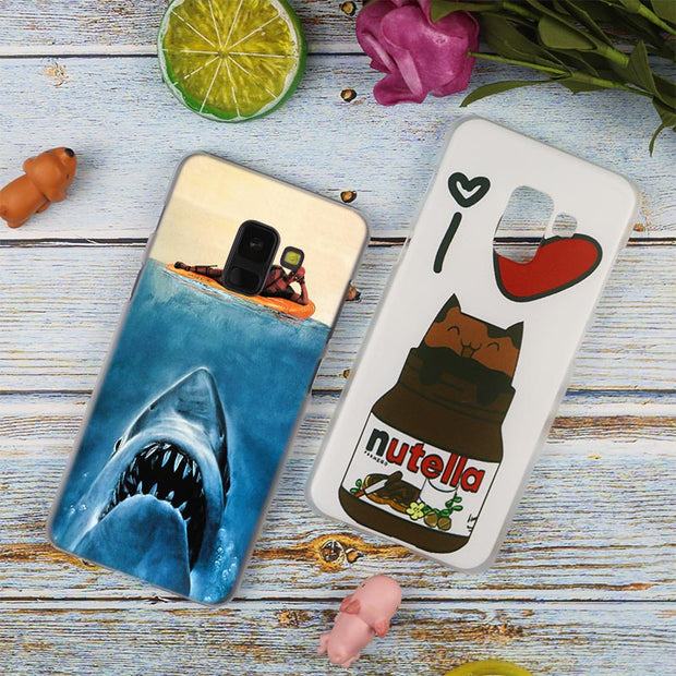 Thriller Whale Sharks Fashion Transparent Case For Samsung Galaxy A3 A5 A9 A7 A6 A8 Plus 2018 2017 2016 Star A6S Note 9 8 Cover