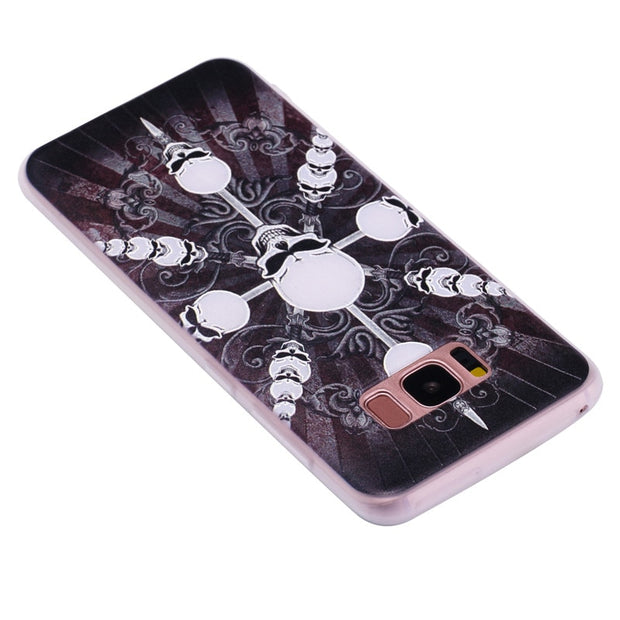 TopArmor Relief TPU Case For Samsung GALAXY S7 S7 Edge---skull Pattern