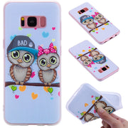 TopArmor Relief TPU Case For Samsung Galaxy S8 S8PLUS---Couple Owl Pattern