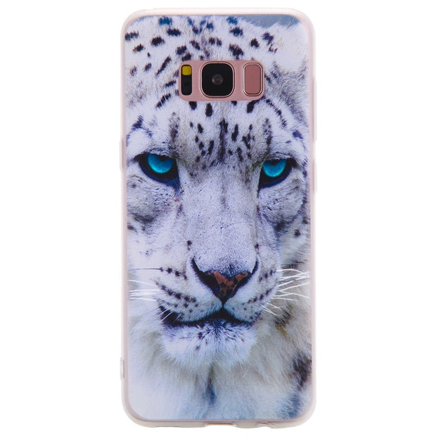 TopArmor Relief TPU Case For Samsung Galaxy S8 S8PLUS---White Leopard Pattern