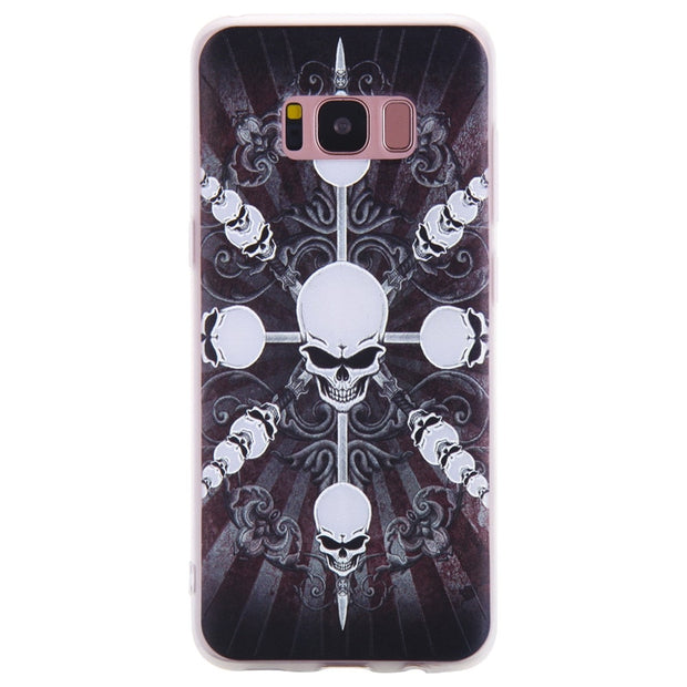 TopArmor Relief TPU Case For Samsung Galaxy S8 S8PLUS---skull Pattern