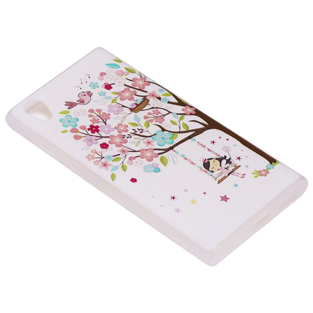 TopArmor Relief TPU Case For Sony Xperia L1 /E6 ---Girl Under The Tree Pattern