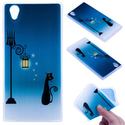 TopArmor Relief TPU Case For Sony Xperia L1 /E6 ---Street Light Cat Pattern