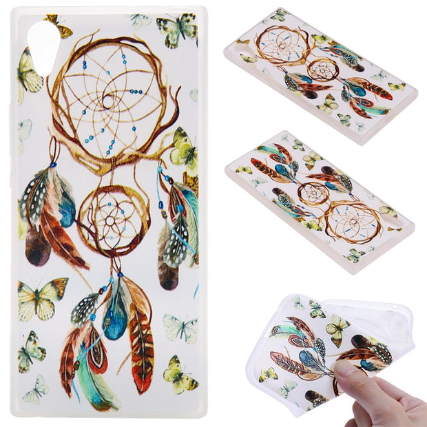 TopArmor Relief TPU Case For Sony Xperia XA1/Z6--Wind Chimes Pattern
