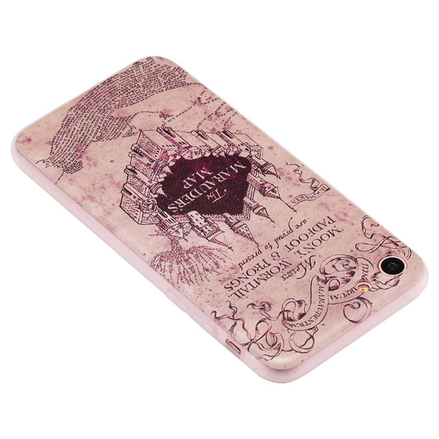TopArmor Relief TPU Case For Iphone 7 7plus---castle Pattern