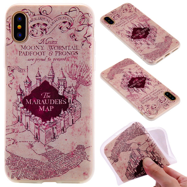 TopArmor Relief TPU Case For Iphone X---castle Pattern