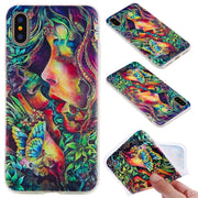 TopArmor Relief TPU Case For Iphone X---kiss Pattern
