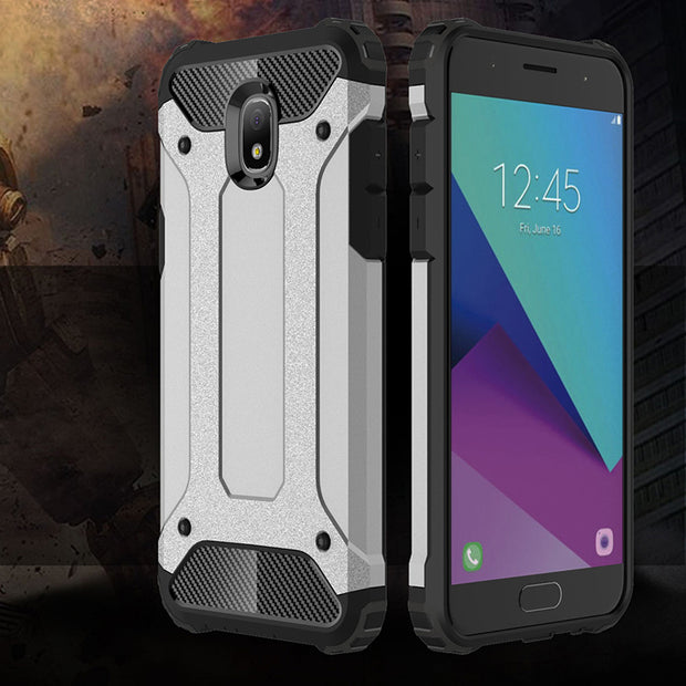 Touhonest Armor Shockproof Rubber Silicone Hybrid Hard Cover Cases For Samsung Galaxy J7 (2018) Luxury Phone Brand Case Fundas