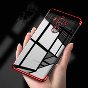 Transparent Plating Case For Huawei Mate 10 Pro Cases Ultra Thin Soft TPU Electroplate Shining Case For Huawei Mate10 Phone Case