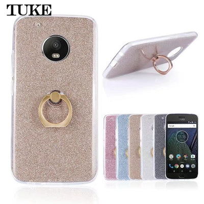 Tuke For Motorola Moto G5 Plus Case Silicon Back Cover Phone Bag Cases For Moto G 5 Plus Cedric XT1670 XT1671 XT1675 Ring Holder