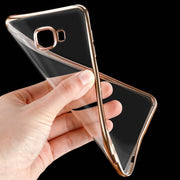 Ultra Thin Gold Back Cover For Samsung Galaxy A3 A5 A7 2017 2016 J3 J530 J5 J7 Prime S6 S7 Edge S8 Plus Case Soft TPU A520 A720